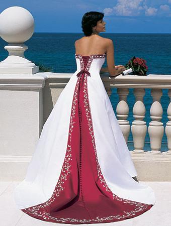 Moderne farbige Brautkleider