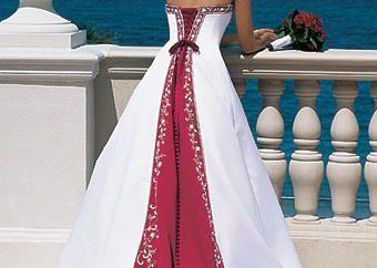 robes de mariée modernes de couleur