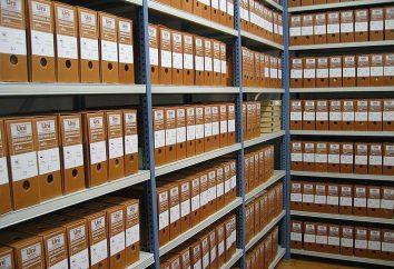 documentos de arquivo organização de gestão: GOST, instruções, documentos, regras. Orientações para a gestão de documentos de arquivo