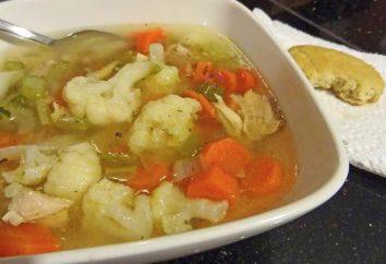Jak oryginalna zupa kucharz z kalafiora i kurczaka: 4 Przepisy ze zdjęciami