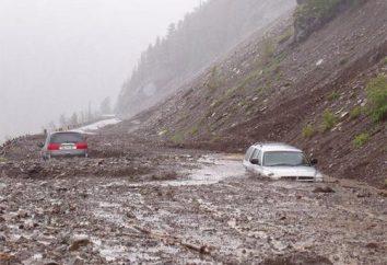 Powódź błotna w Soczi, Gruzji, Taba i Lars