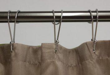 Crochets pour rideaux – un type de dispositifs de fixation du rideau sur le rebord