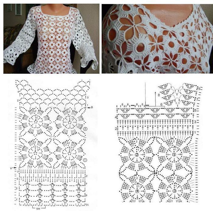 Camicette Estive Crochet Schema E La Descrizione Patterns Per