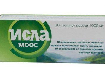 """Istruzioni per l'uso """"Isla Moos"""". Rimedio per il mal di gola"""