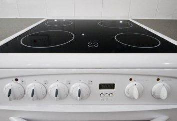 Cuisinière électrique 4 plaques de cuisson, verre: description, avis