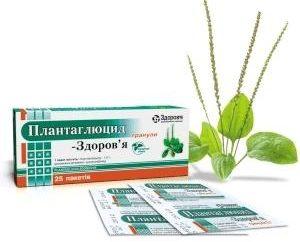 """Herbal preparação """"plantaglyutsid"""": instruções de uso"""