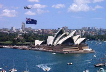 Australien (Land). Die Entdeckung von Australien. Karte von Australien. Symbol von Australien