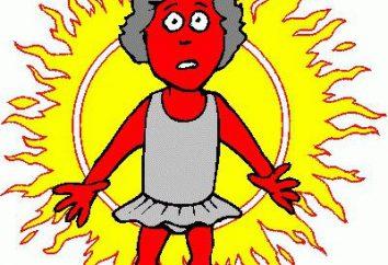 Hitzschlag: Symptome und Behandlung, und das Maß der Verantwortung