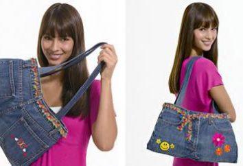 Denim torba z rękami: szybka i łatwa