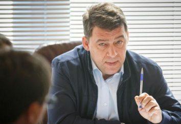 Swierdłowsku Region gubernator Jewgienij Kuyvashev: biografia