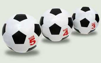 bola de futebol: o tamanho do projétil