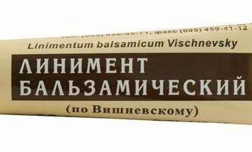 Vishnevsky pomada: comentários. Pomada para aplicação externa