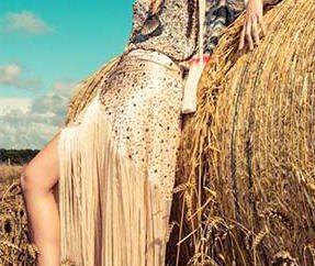 Boho-Stil Kleid: Muster. Muster Röcke im Stil der boho