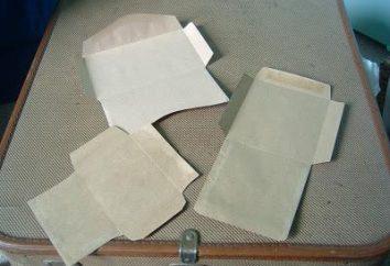 Wie man richtig und schnell den Umschlag macht aus Papier