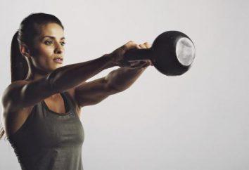 Gewichtheben: Übung. Eine Reihe von Übungen mit Gewichten