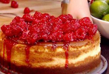 pastel de queso de frambuesa. Recetas. foto
