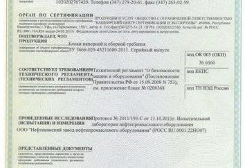 Certyfikat TR CU. Certyfikat zgodności z przepisami technicznymi Unii Celnej
