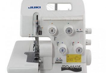 Overlock Juki MO 654DE: le specifiche tecniche, le istruzioni, prezzo e recensioni