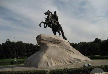 Jeździec miedziany: opis pomnika Piotra Wielkiego