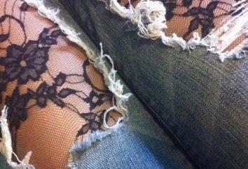 Jeans con encajes. tendencia de la temporada