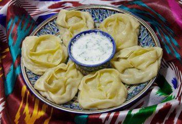 manti Uzbek: Receita