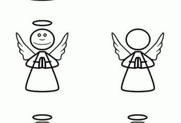 Wie ein Engel zeichnen: kleine Tricks, um die Zeichnung zu vereinfachen