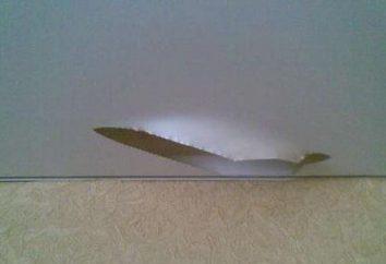 Dziura w sufitach naciągane: jak zamknąć prawidłowo?