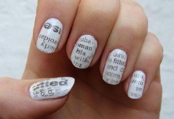 """manicure """"Giornale"""" – idee originali nella progettazione delle unghie"""