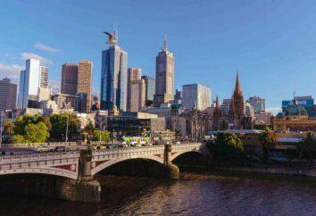 Austrália, marcos Melbourne, suas fotos e descrição