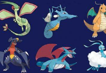 Pokemon smok: jaki rodzaj potworów, jakie są główne różnice, rodzaj charakterystyczne