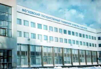 Universidad Estatal de Moscú de la Cultura y las Artes (MGUKI): departamentos y especialidades, dirección, las condiciones de admisión