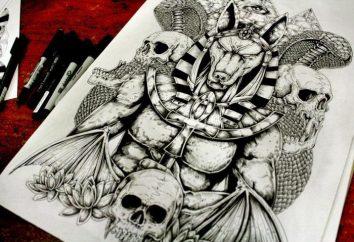"""""""Anubis"""": wartość tatuaż, szkiców, zdjęć"""