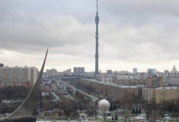 Wieża Ostankino. Wieża Ostankino: taras widokowy. Wieża telewizyjna Ostankino