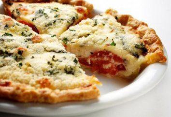 Torta con formaggio e pasta pomodoro e convenzionale pasta lievitata