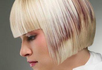 Kwadrat z grzywką cienkie włosy średniej długości: AGD, zdjęcia