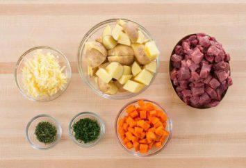 patatas sabrosas y estofado de carne en el horno: la cocina cuenta con las mejores recetas y comentarios