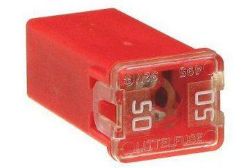Tipi di fusibili: denominazione, la descrizione, l'etichettatura