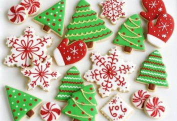 cookies do receitas de Ano Novo. dicas de culinária, moldes, decoração