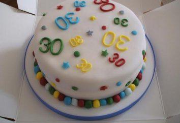 Torta durante 30 años, el hombre – un regalo creativo de la naturaleza del cumpleaños