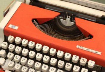 tipo máquina de escribir: el uso de nombres, información histórica