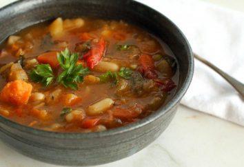 Deliziosa zuppa con carne macinata di manzo