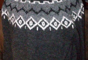 Maglione a maglia maschile e femminile: uno schema