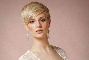 Des coiffures de mariage pour cheveux courts avec une frange (photo)