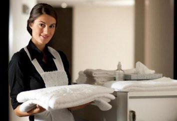 Praca Opis hotelu pokojówka: obowiązki, funkcje i próbka
