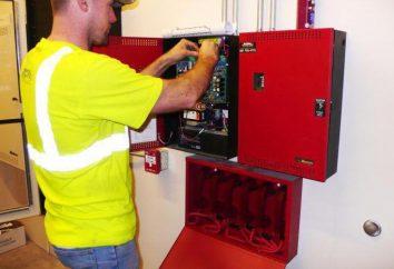 Alarme de incêndio: instalação. Instalação de sistemas de alarme de incêndio