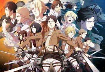 La lutte pour l'avenir du manga « Attaque sur Titan ». Personnages bande dessinée japonaise