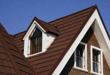 telhado sobreposição usando materiais diferentes