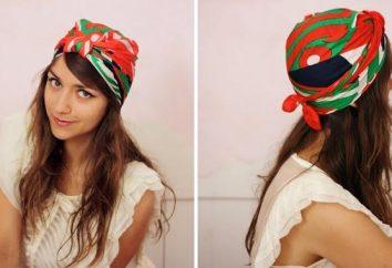 Várias maneiras de amarrar um turbante, original e muito bem