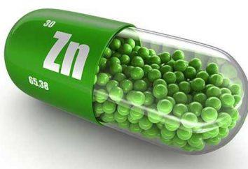 suplementos de zinc eficaz para los hombres: una lista de funciones de la aplicación y las revisiones