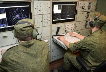 Rosyjscy żołnierze sił powietrznych radarowe. Dzień wojsk radiotechnicznych